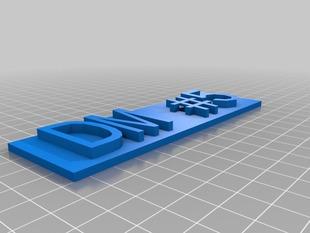 My Customized Replicator 2 Nameplate DM5