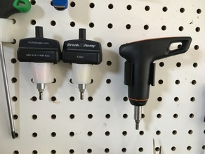 Pegboard mount for Specialized fixed torque wrench