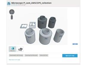 Amscope Microscope collection - Raspberry Pi Camera V2