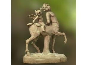 Centaur tormented by Eros
