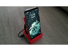Phone holder with wireles charging
