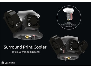 Surround Print Cooler - 50x50 radial fan (for E3D type hotends)