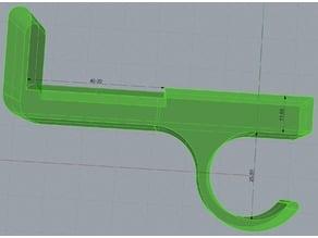Table-Headphones Hook for Ikea Idre Folding Table