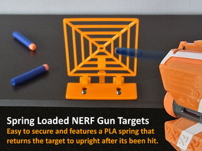 Spring Loaded Target for NERF Gun Fun!