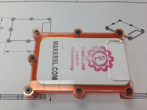 MakerSL Acrylic Laser Cut (or 3D Printed) Business Card Holder