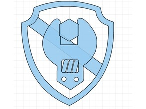 Paw Patrol Badges - Rubble