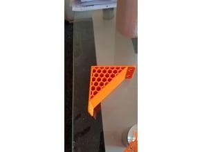 Angle bracket with hexgon pattern for Ikea lack enclosure