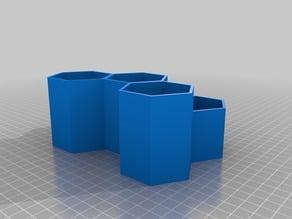 Six Hexagon Desk Tidy
