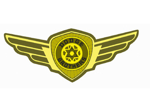 Dodge brothers badge with wings