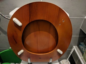 Toilet seat buffer