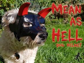 """""""Mean As Hell"""" Dog Helmet"""