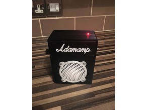 Portable mini guitar amplifier enclosure
