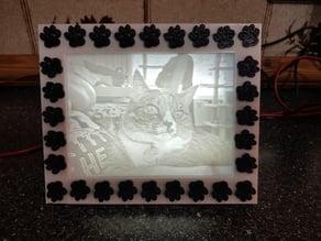 Paw Print Frame For My Light Box