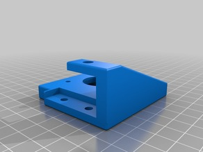 Creality Ender 3 - Y Axis Damper Mount - Bed Clearance remix