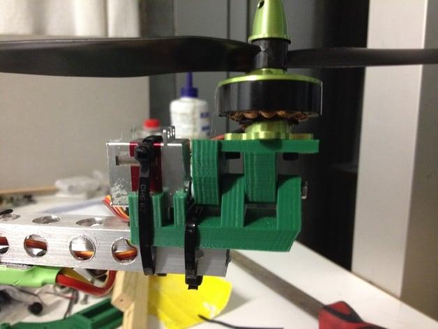 Tricopter YAW Mechanism (Rear motormount)