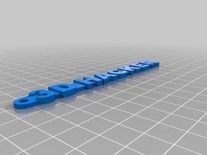 3D Hacker Keychain