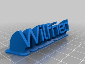My Customized Sweeping name plate Wilfried