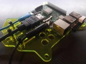 Raspberry Pi B+ / 2 / 3 / 3B+ Acryl (3mm) Vesa Mount (100x100mm)