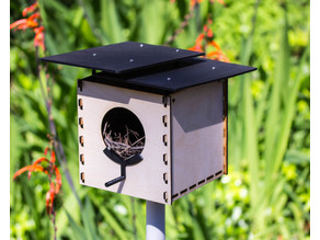 Modern Birdhouse for 3D Printer, Lasercutter, or CNC