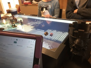 Gaming Monitor Table for Dungeons and Dragons