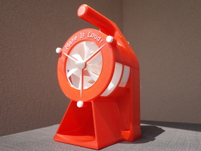 Air Raid Siren - hand crank version 2