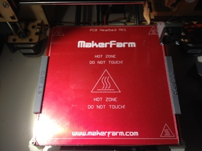Makerfarm prusa i3 3mm glas bed holder(updated!!)