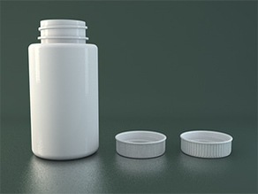 Pill bottle with twist on cap