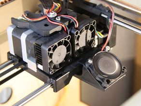 Flashforge/Makerbot Dual 40mm Fan Duct (left or right extruder)