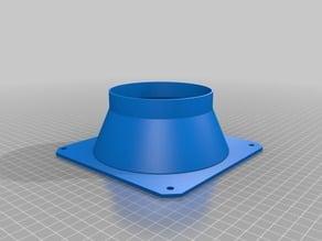 parametric hvac square 4in duct tap