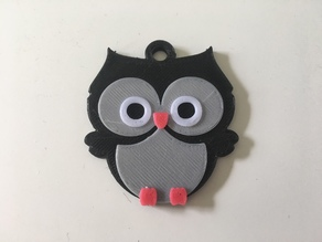 Multi-Coloured Owl Key Tag