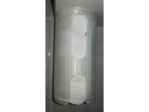 Container for cosmetic cotton wool