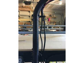 MPCNC dust collection hose riser