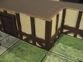 modular wood floor and wall - corner
