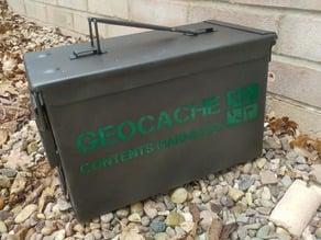 Geocache - Ammo Box Stencil