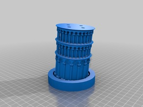 Leaning Tower of Pisa - Sectioned for printing on Monoprice Select Mini v2