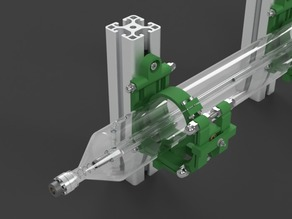 Laser Tube Mount for Aluminium Profiles
