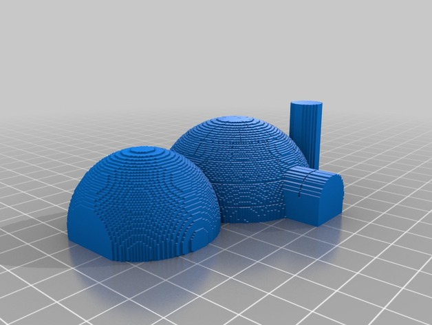 3D Slash) igloo_solid by louis3dprinting - Thingiverse