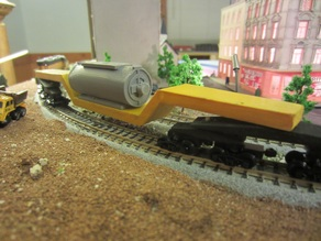 450 ton, 16 axle depressed center flat car - N scale