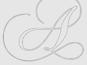 Calligraphy Alphabet Stencil A