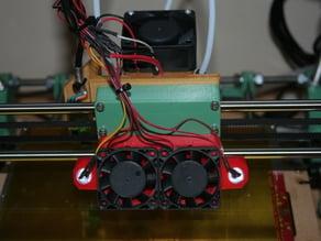 RepRapPro Mendel 3 LED holder/fan mount