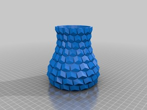 Curved honeycomb vase with smooth inner
