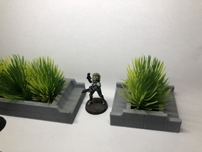 Planters with Benches for Wargames