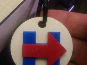 Hillary Clinton for President pendant