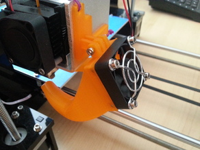 HIC Prusa i3 fan duct / mount for Wade's extruder