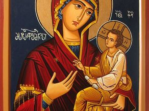 Christian Mother Mary Orthodox Icon Relief