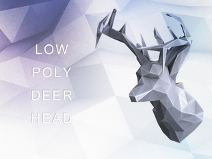Geometric Low Poly Deer Head