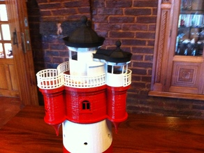 Roter Sand Lighthouse Model