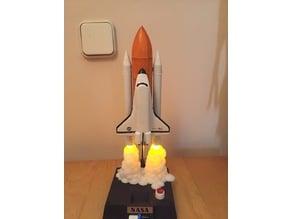 space shuttle model flames