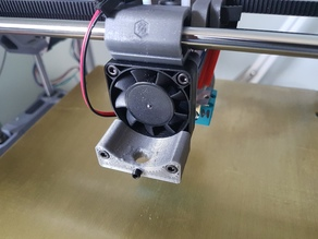 Voron bed levelling dial gauge support for 40mm fan