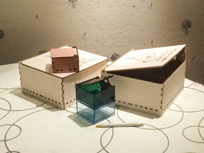Parametric box with hinged lid - rzigzagto